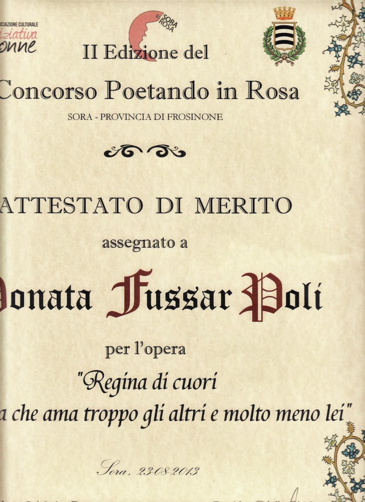 II Edizione del Concorso POETANDO IN ROSA -Sora -Frosinone