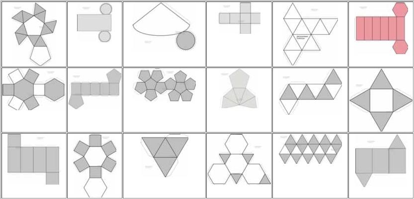 Figuras geométricas recortables