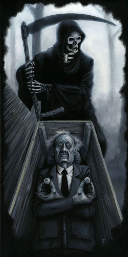 Jeff Christensen js4853 deviantart pinturas surreais sombrias Morte no sonho