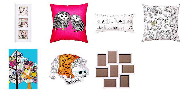 Ikea, dekoracje, akcesoria, plakat, obraz, poduszka, poszewka, ramki, kolorowa poduszka, poduszka dekoracyjna