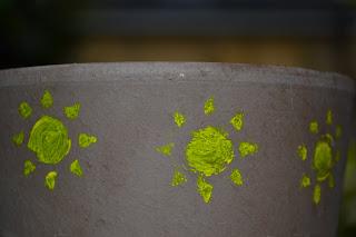 Stencils on Pot