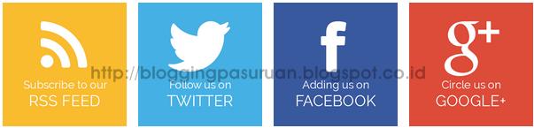 Cara Membuat Widget Social Media Responsive di Blog