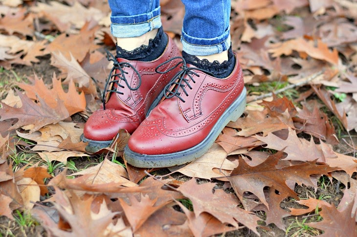 Dr Martens 3989 Cherry Red how to wear Dr martens come vestirsi in autunno The Sparkling Cinnamon