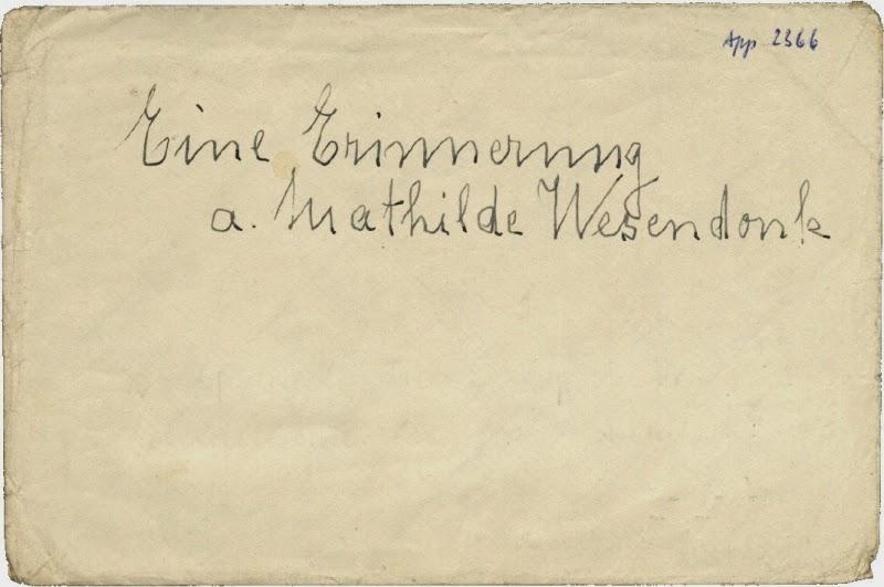 Otto Richter: Eine Erinnerung an Mathilde Wesendonck. 1933