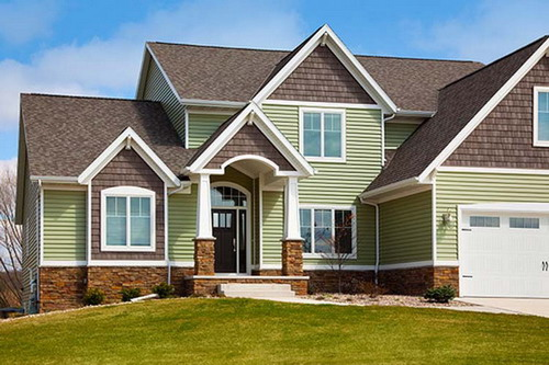 Luxury House Vinyl Home Siding Exterior Design