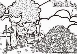 Poppet Town para dibujar y colorear
