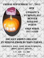 Upslope Pumpkin Ale tapping