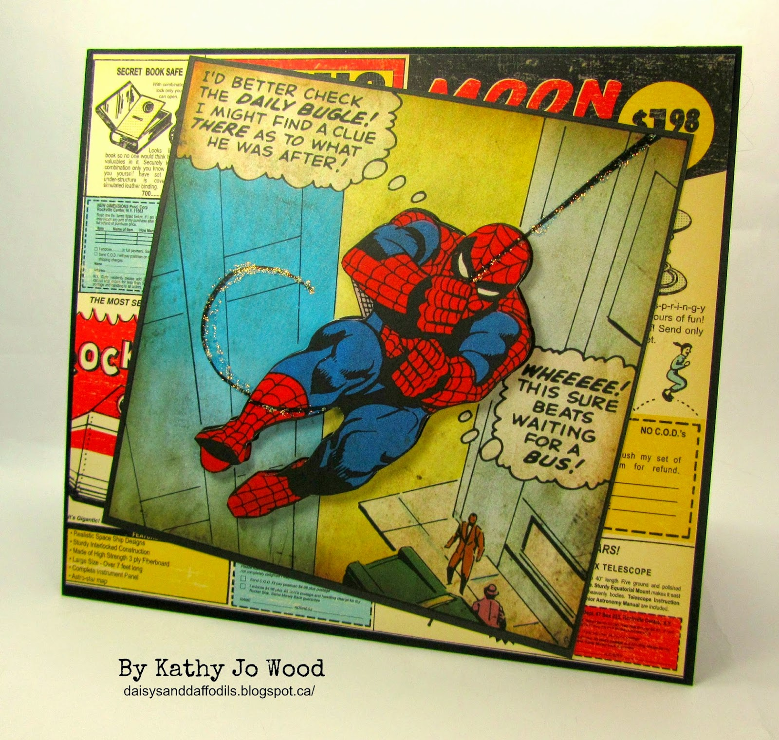 i'm a little teapot spiderman birthday card, Birthday card