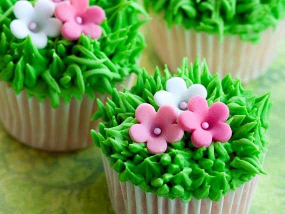 кексы с цветочками