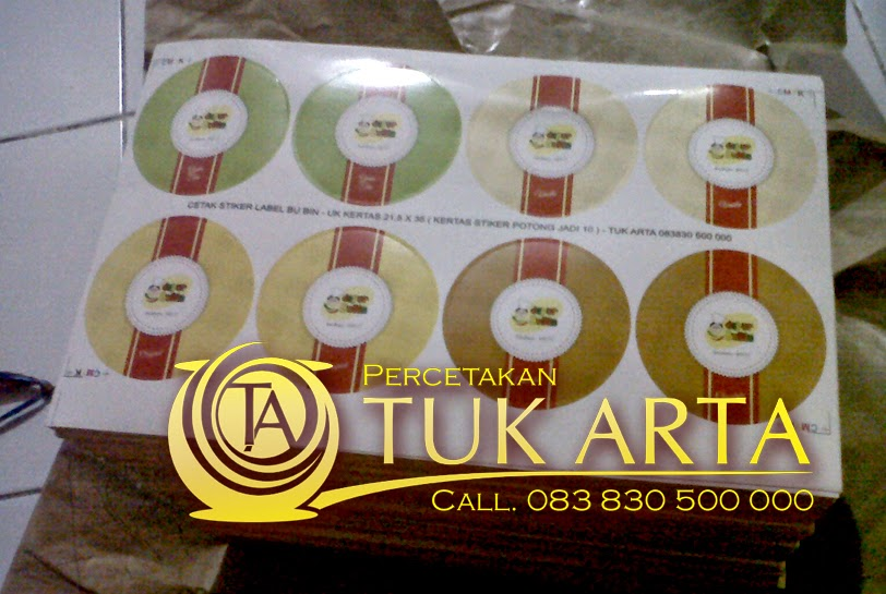 cetak stiker label  surabaya