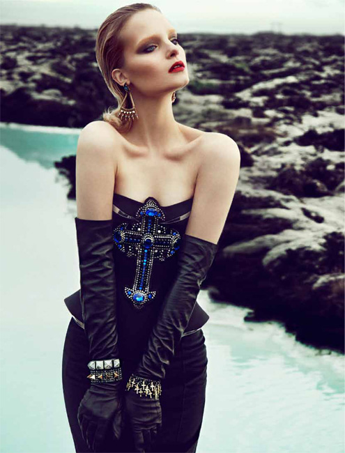 Charlotte Tomaszewska by Kevin Sinclair for Grazia, December 2012