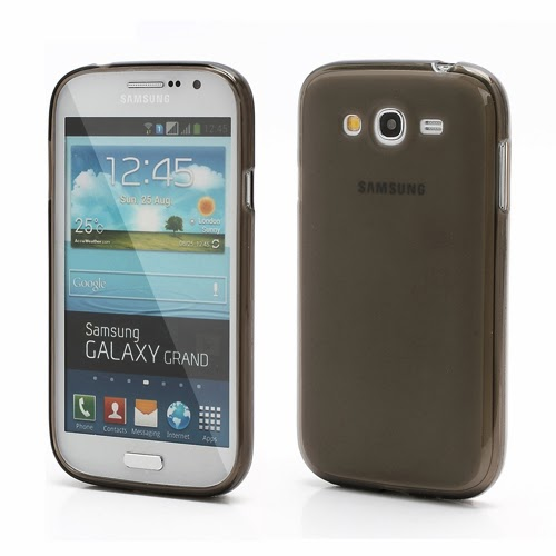 Frosted TPU Jelly Case for Samsung Galaxy Grand I9080 Grand Duos I9082 - Grey Transparent