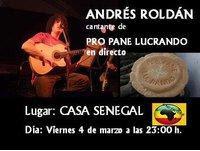 ANDRÉS ROLDÁN en directo. CASA SENEGAL