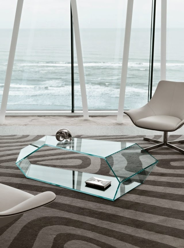 Modern Glass Coffee Table For Luxury Living Room