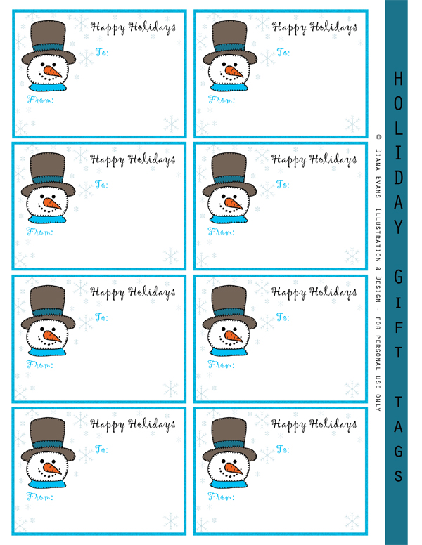 Snowman Label Template Bing Images
