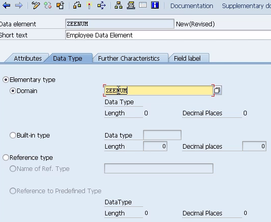 SAP ABAP Data Elements