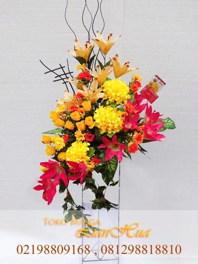 standing flowers artificial bagus dan mewah