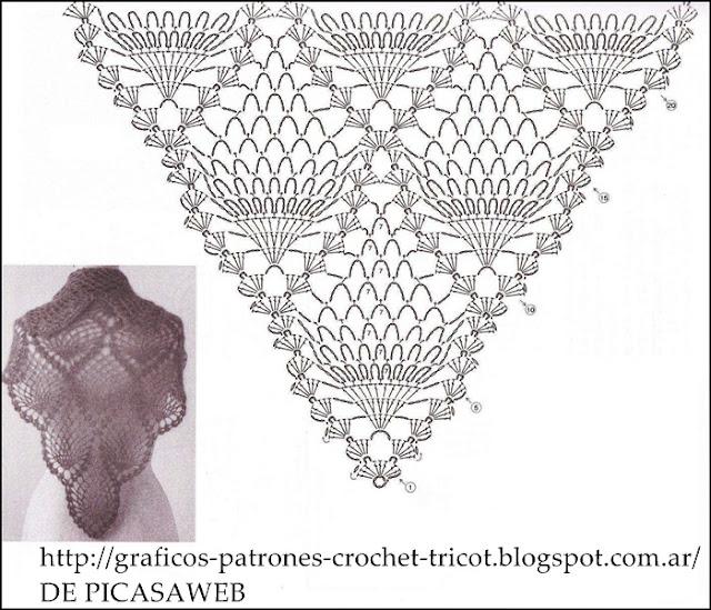 crochet chal tejido a ganchillo con su patron chal chalina crochet