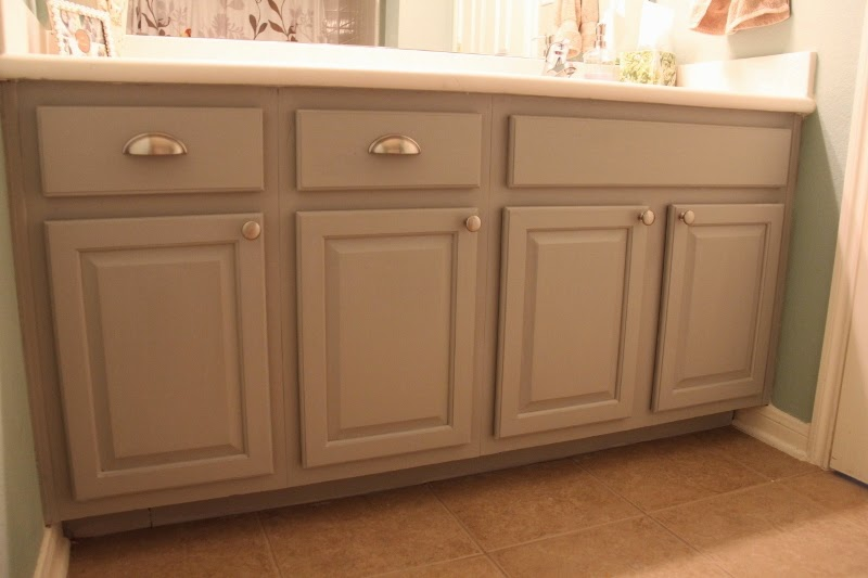 The chronicles of ruthie hart naptime diy painting Paint bathroom cabinets