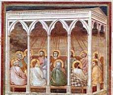 Un fresco de Pentecostés de Giotto di Bondone, de entre 1303 y 1305