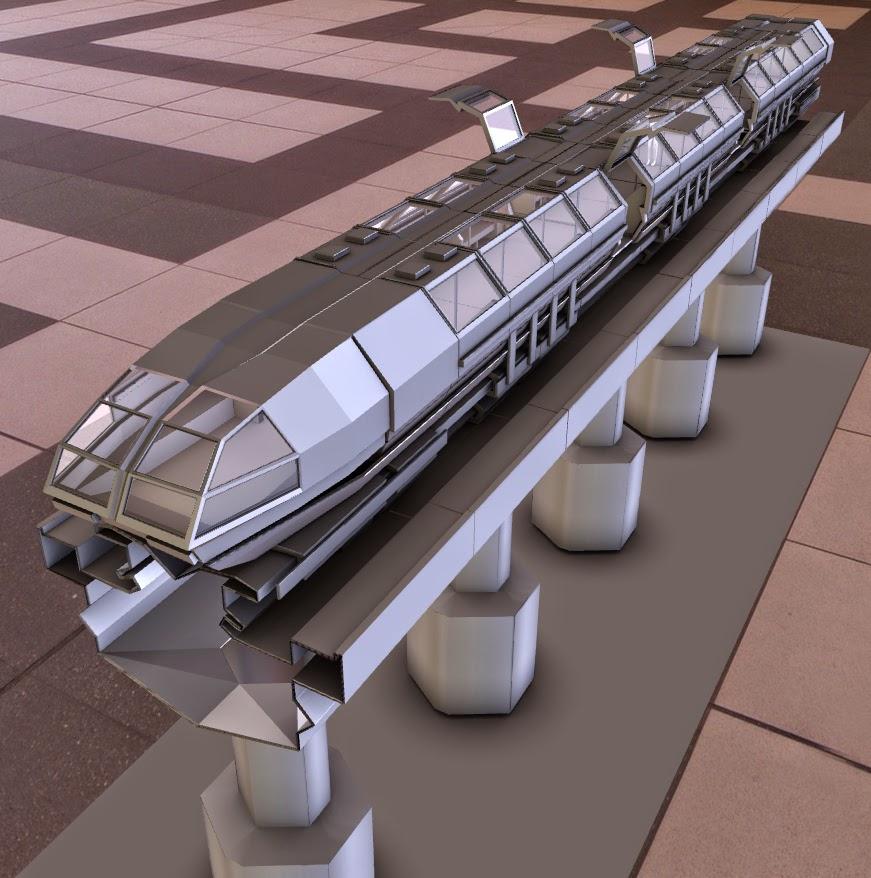 superconductor train by DennisH2010