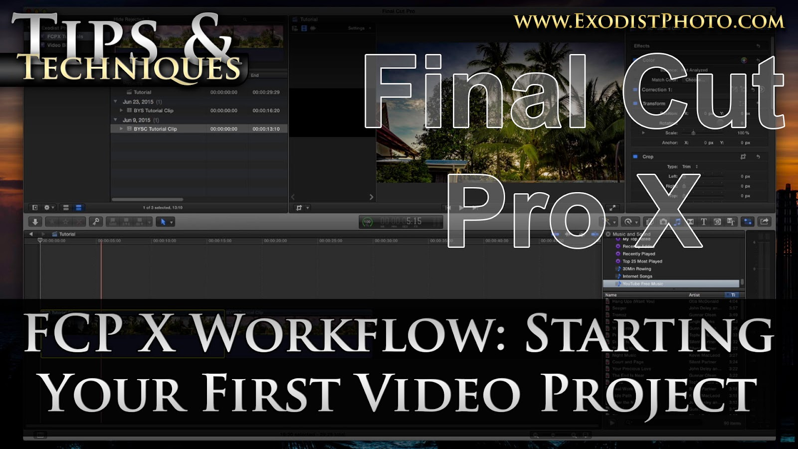 how to work final cut pro