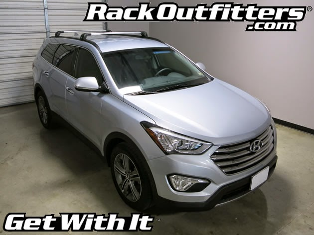 Captivating NEW Hyundai Santa Fe SILVER Thule AeroBlade EDGE Base Roof Rack U002713 U002715*