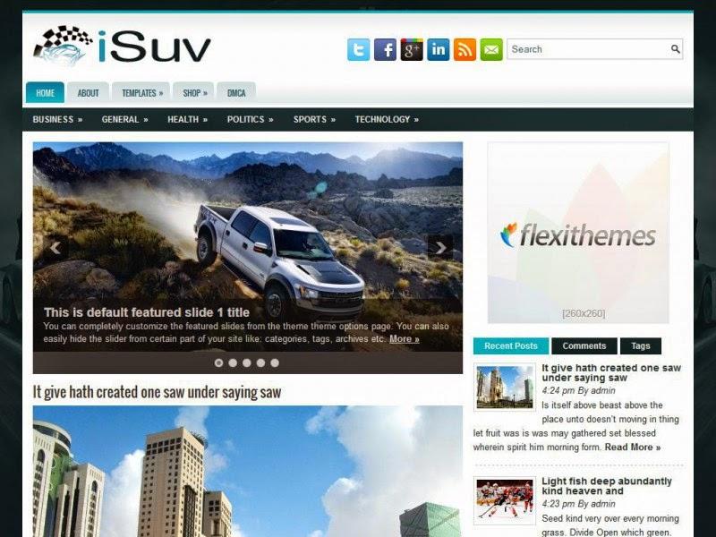 iSuv - Free Wordpress Theme