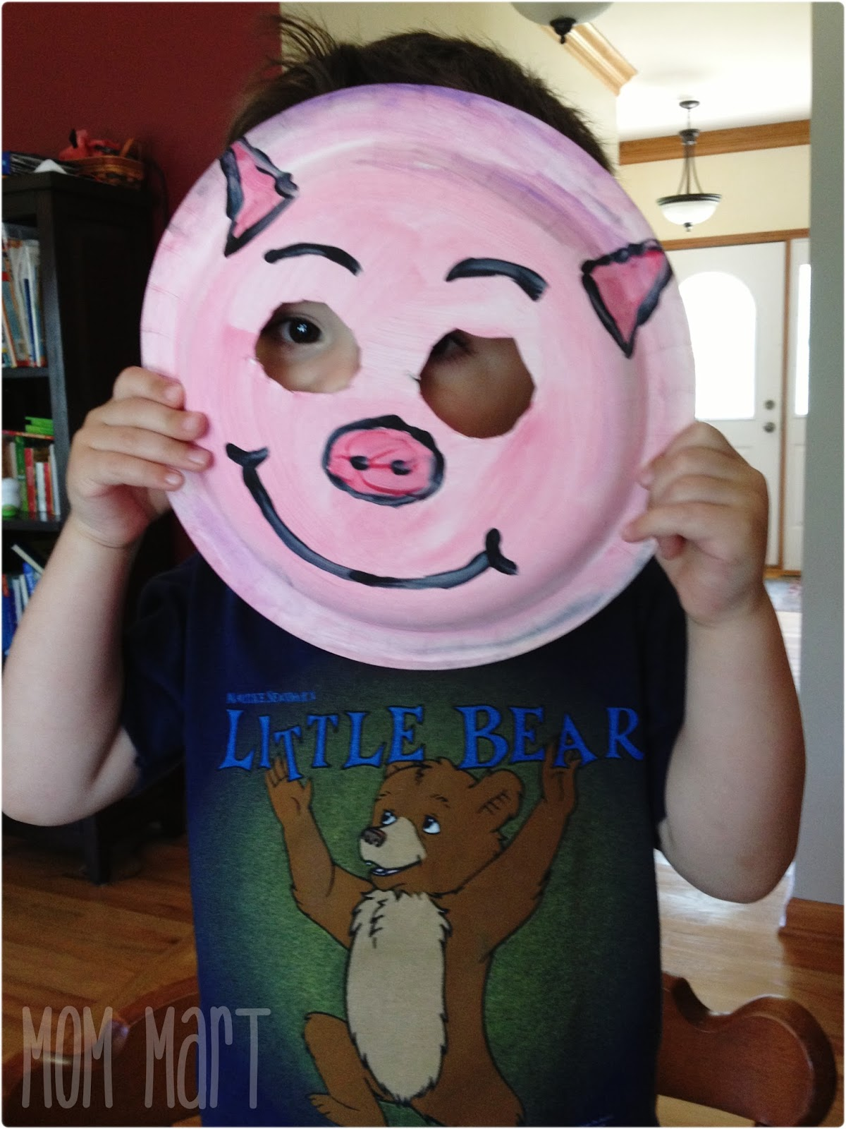 ... Playing with the Pig Paper Plate Mask & Mom Mart: Paper Plate Animal Masks #CraftForKids