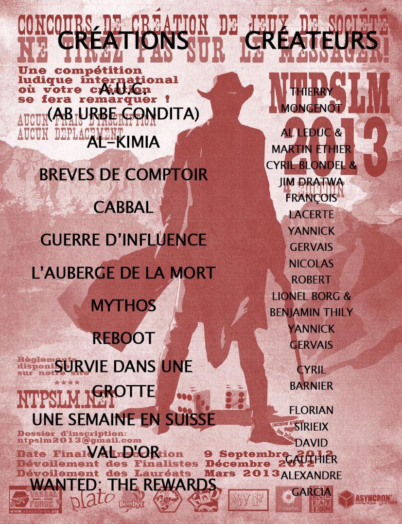Witness pas parmi les 12 finalistes de NTPSLM2013 :-(