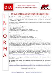 CONVOCATORIA DE CURSOS DE IDIOMAS