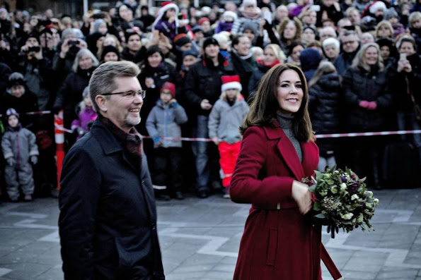 Princess Mary Leads The Lighting Of Christmas Tree In City Hall Square