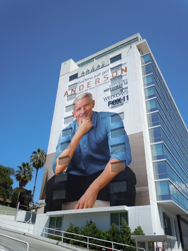 Giant Anderson Cooper billboard