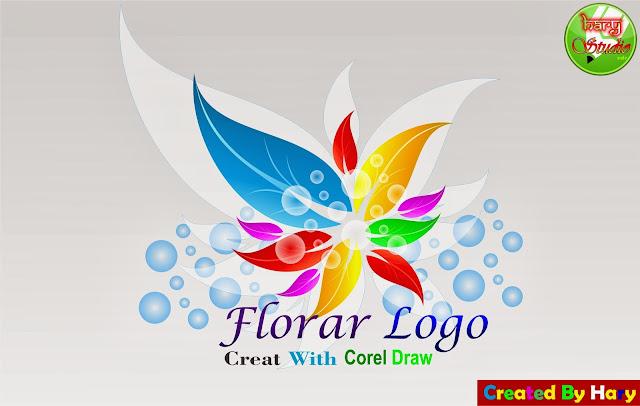 ... COREL DRAW: Corel Draw Tutorial cara membuat vector floral logo