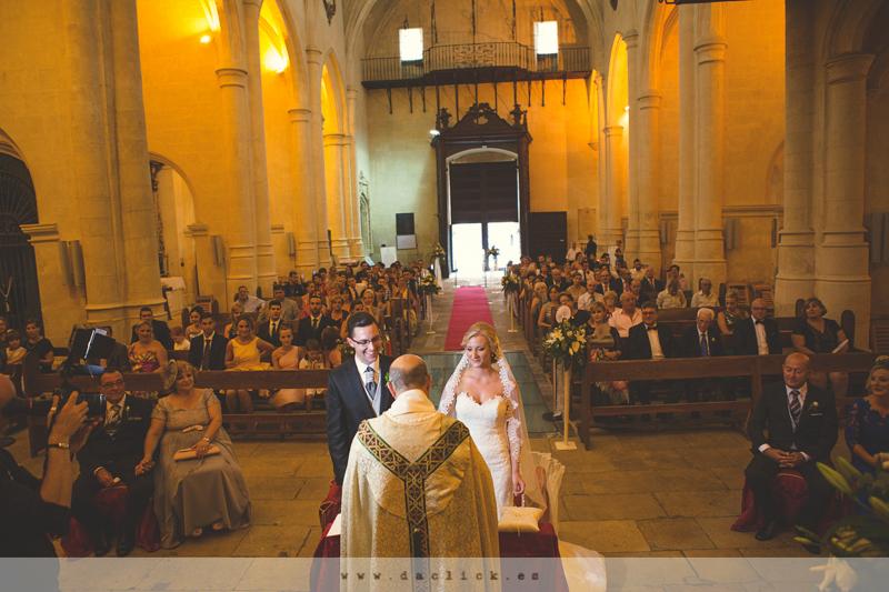 Ceremonia en iglesia, boda Alicante,
