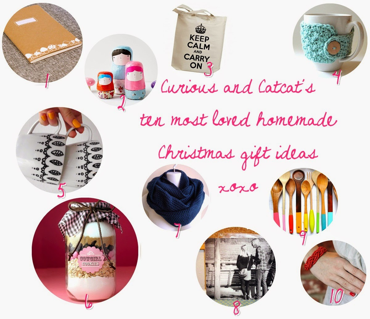 Curious and Catcat: 10 Favorite Homemade Christmas Gifts