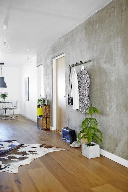 Decoración · Acabado cemento en paredes