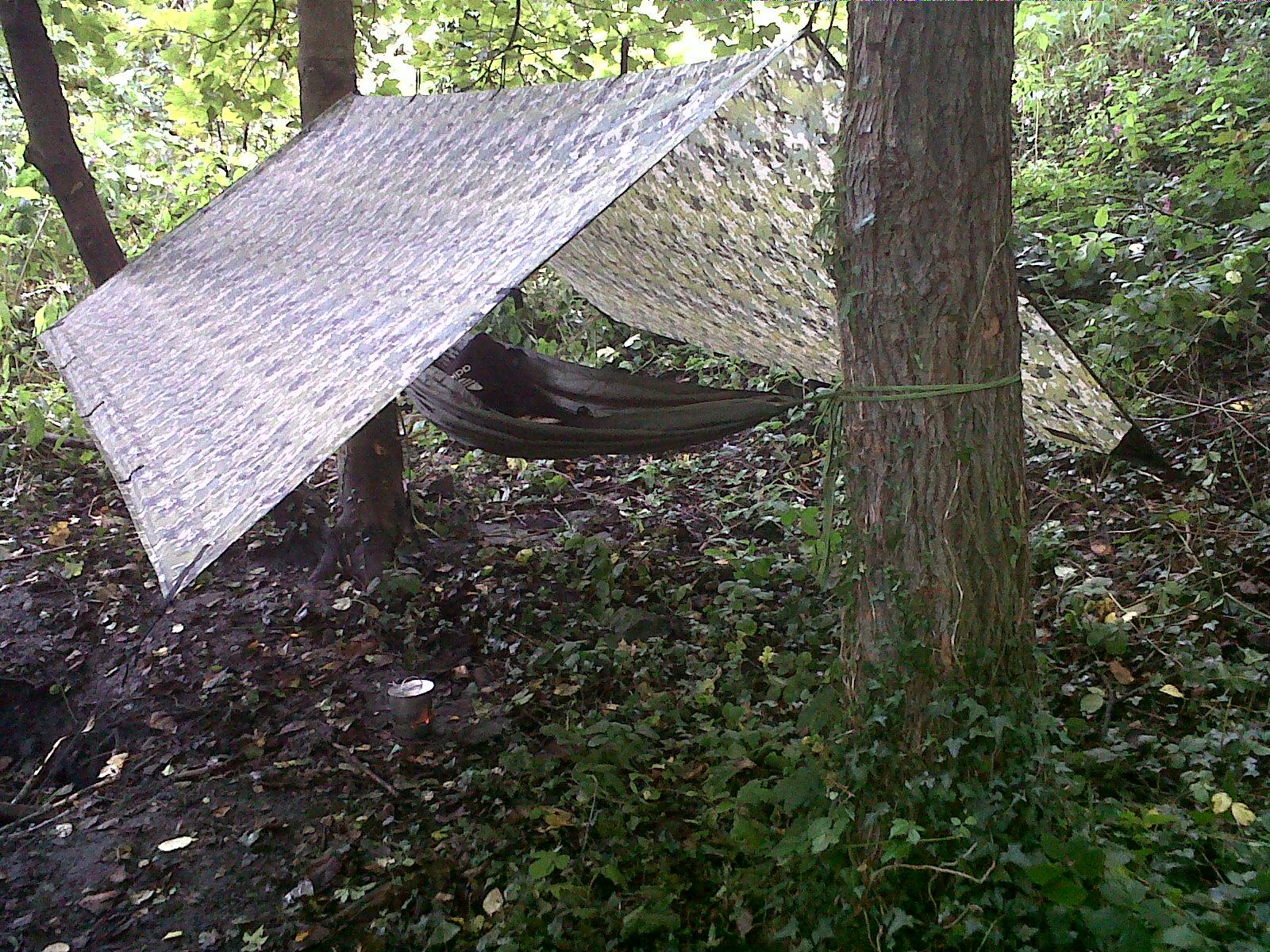 The Outdoorist Hammock set up