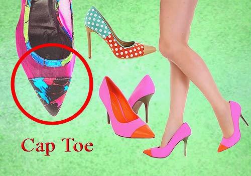 Bagian Depan Sepatu Wanita, Cap Toe