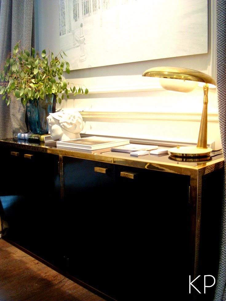 aparador negro de latan y laton vintage casa decor