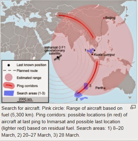http://en.wikipedia.org/wiki/Malaysia_Airlines_Flight_370#Hypothesised_routes