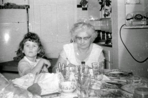 jaguarjulie and grandma julia nagy in cleveland ohio kitchen
