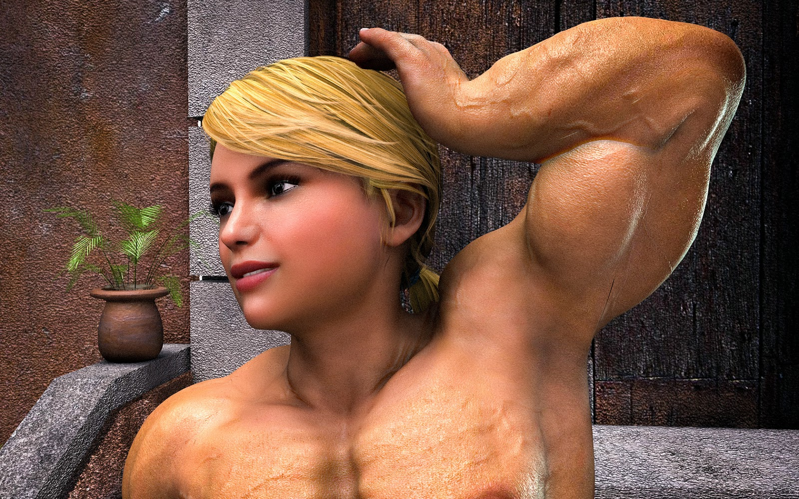 3d muscle girl hentai girls