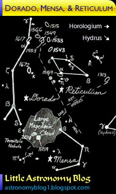 amazing astronomy dorado mensa reticulum