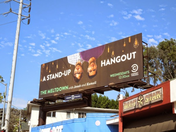 The Meltdown stand up Hangout billboard