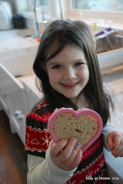 heart shaped sandwich for valentine's day