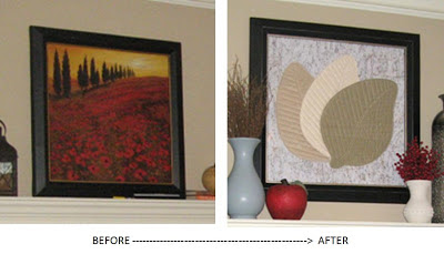 Framed Art Before and After