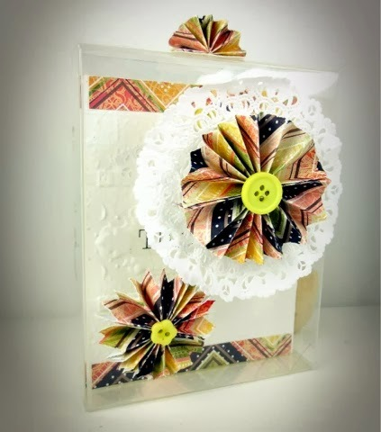 SRM Stickers Blog - Thank You Box by Michelle - #card #doilies #thank you #clear box