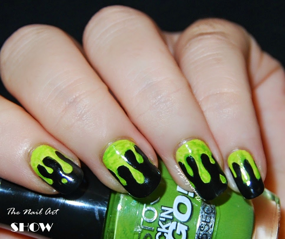 The Nail Art Show Green Slime Nail Art
