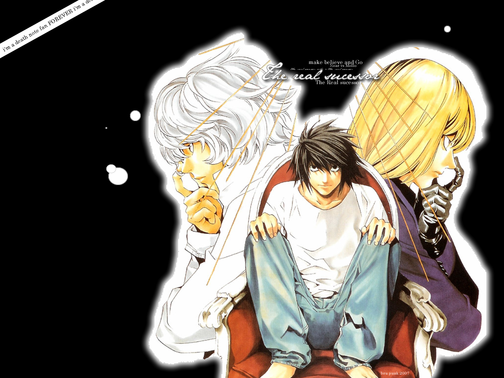 mundo otaku: death note 0_0 L Near Mello